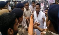 MP: ભોપાલની ભાજપ કાર્યાલયને કોંગ્રેસી કાર્યકર્તાઓએ ઘેરી