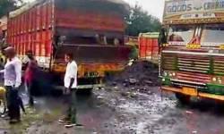 મહારાષ્ટ્ર-ગુજરાતની સરહદ પર 60 કરતાં વધુ ભેંસો સાથેની ટ્રકો અટવાઈ ગઈ છે