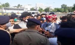 અમદાવાદમાં કરણી સેના અને પોલીસ વચ્ચે ઘર્ષણ,રાજ શેખાવતની અટકાયત
