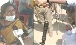 તૃણમુલની મહિલા નેતાએ પોલીસ પર બ્લાઉઝ ફાડવાનો મૂકયો આરોપ : ધક્કામુક્કીમાં સાંસદ ડેરેક ગબડી પડયા