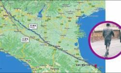 ઇટલીના એક ભાઇ સાહેબ પત્ની સાથે ઝઘડ્યા પછી ગુસ્સામાં ચાલ્યા પૂરા ૪૧૮ કિલોમીટર