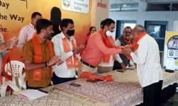 ધારી તાલુકા પંચાયત સદસ્ય ૮૦ કાર્યકરો સાથે કોંગ્રેસ છોડી ભાજપમાં જોડાયા