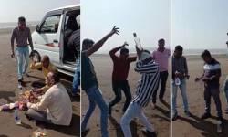ગુજરાતમાં કહેવાતી દારૂબંધીના લીરેલીરાં ઉડ્યા ! ઝૂમ બરાબર ઝૂમ શરાબી  ! ગણતંત્રના દિવસે જ સુરતના દરિયાકિનારે હોમગાર્ડ જવાનોએ  'દારૂપાર્ટી'  યોજી