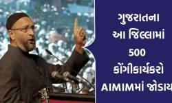 કોંગ્રેસને ઝટકો : ગુજરાતના આ જિલ્લામાં 500થી વધુ કાર્યકરોએ કોંગ્રેસ છોડી AIMIMમાં જોડાયા