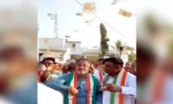 જામનગરમાં કોંગ્રેસ નેતા ભૂલ્યા ભાન, ચૂંટણી પ્રચારમાં લલિત વસોયાએ કર્યો પૈસાનો વરસાદ