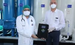 બાયર કંપની દ્વારા કોવિડ ઓક્સિજન પ્લાન્ટ હરિઆ એલ.જી. રોટરી હોસ્પિટલ ખાતે શરુ કરાયો  : કોવિડ સામે લડવા આવકારદાયક પગલું