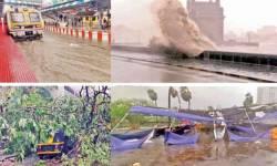 વાવાઝોડાથી મહારાષ્ટ્રમાં છ, કર્ણાટકમાં આઠનો ભોગ લેવાયો : મુંબઈમાં 114 કિ.મી.ની ઝડપે પવન ફૂંકાયો, 55 ફ્લાઇટ રદ