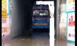 સુરતના કેટલાક વિસ્તારોમાં વરસાદને કારણે પાણી ભરાયા